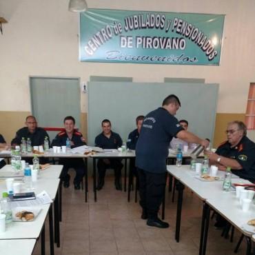 Primer encuentro trimestral de Bomberos Voluntarios en Pirovano