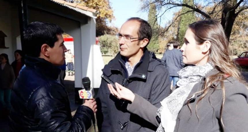 Marcos Pisano encabezó el acto por el Día de la Bandera en un Escuela Rural