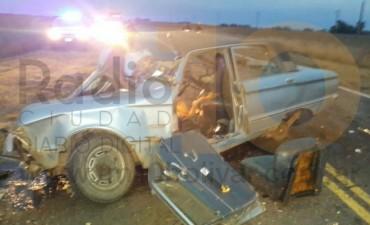 Grave impacto frontal en ruta provincial 65: Dos personas fueron trasladadas de urgencia al Hospital