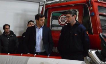 El Municipio firmó un contrato con Bomberos Voluntarios de Urdampilleta