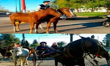 El Primer Grupo de Gauchos Peregrinos arribó a Bolívar