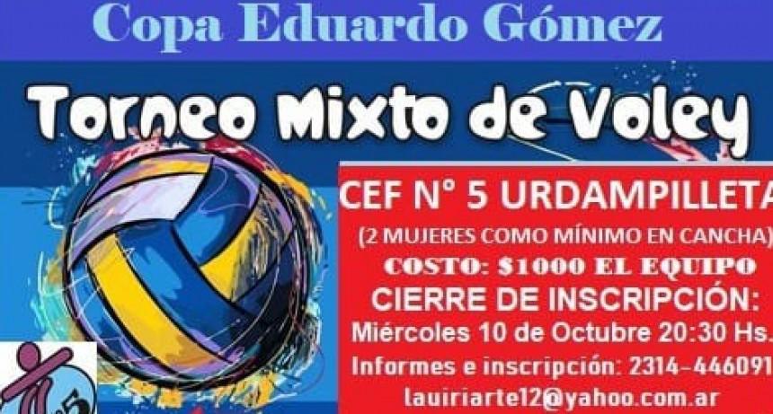 Se viene un gran torneo de voley mixto organizado por el CEF N.º 5 de Urdampilleta