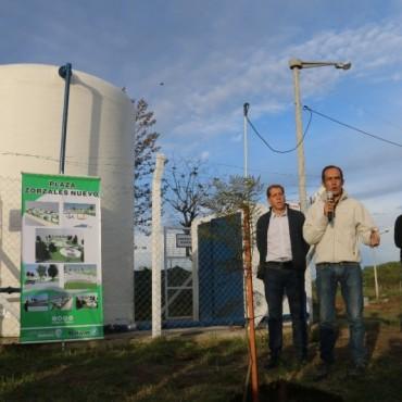 Pisano inauguró la estación elevadora de presión de agua de los Zorzales Nuevo