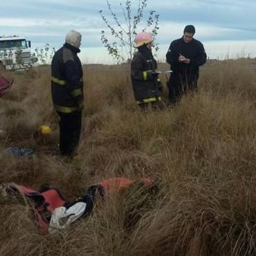 Bomberos Voluntarios de Pirovano se hizo presente en un accidente en Ruta 65