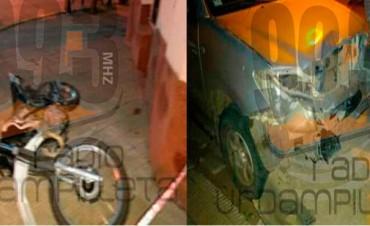 Accidente en Pirovano: Dos jóvenes fueron trasladados a Bolívar