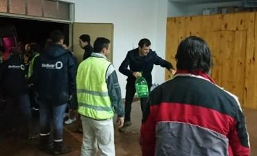 El equipo municipal asistió a los vecinos tras el temporal