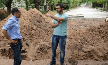 Pisano recorrió las obras para barrio Calfucurá