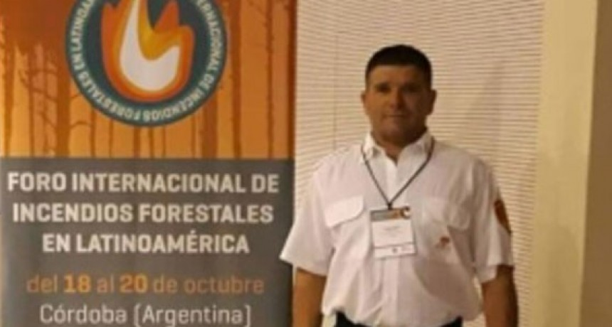 Víctor González participó de un foro internacional sobre incendios forestales