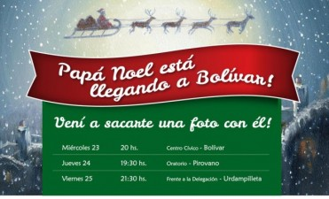 Llega Papá Noel a Urdampilleta este viernes