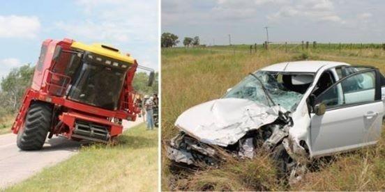 Impactante accidente en Ruta 85 sin heridos de gravedad