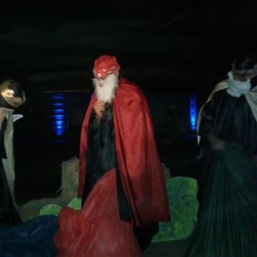 Mágica y emotiva llegada de los Reyes Magos a Urdampilleta