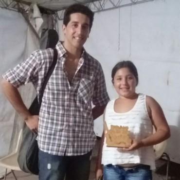 Sergio Lapenna y su sobrina Lucrecia subieron al escenario del 'Pirovano Canta'