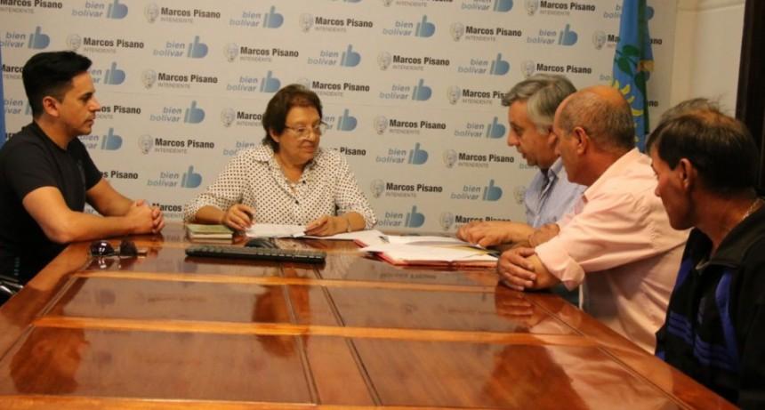 Natiello se reunió con la comisión de Plaza Roca