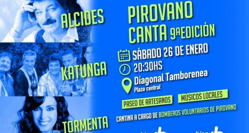 El próximo sábado 26 Pirovano se viste de fiesta con una nueva edición de Pirovano Canta