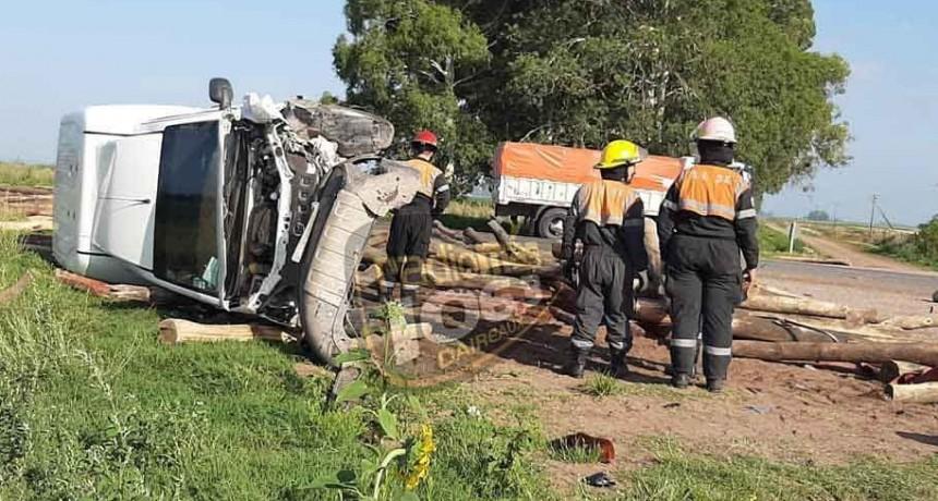 Tremendo accidente en Ruta 65 km 361; No hubo víctimas de milagro