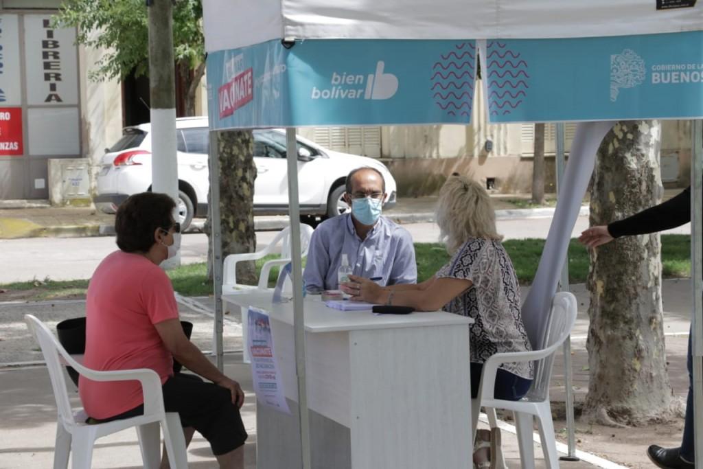 Pisano acompañó el Plan de Vacunación en Urdampilleta
