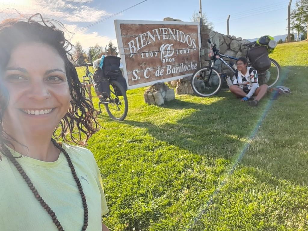 Travesía en bicicleta: Bárbara Luna habló desde Bariloche