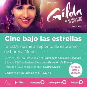 Sábado 25: Llega el 'Cine Bajo las Estrellas' donde proyectaran 'Gilda, No me arrepiento de este amor'