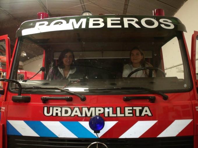 Las integrantes mujeres de Bomberos Voluntarios festejaron el Día de la Mujer