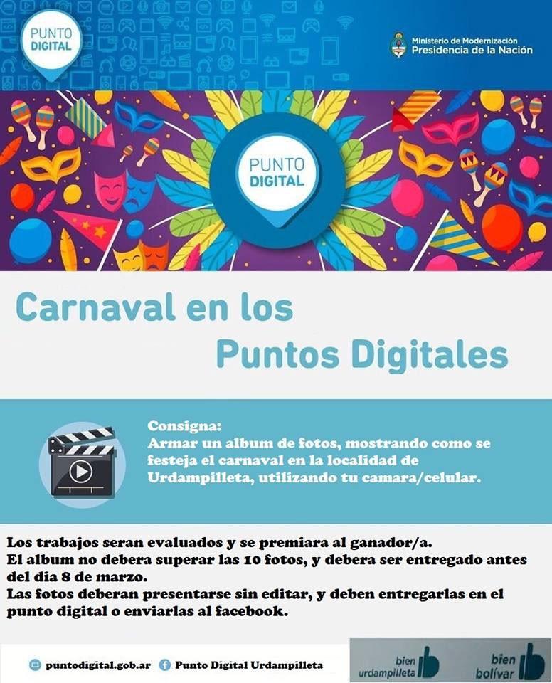 El Punto Digital Urdampilleta también festeja el carnaval