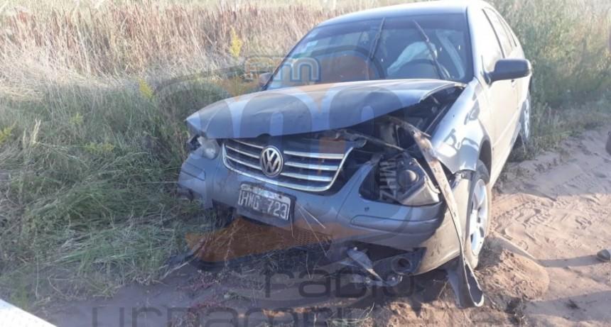 Un animal de gran porte habría provocado el despiste de un automóvil en un camino rural
