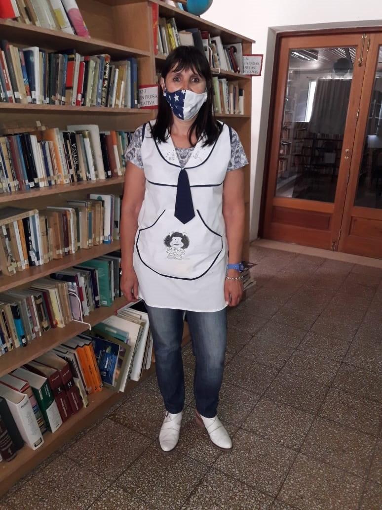 """Claudia Bustamante (Bibliotecaria): """"Estamos felices de poder volver a la actividad presencial"""""""