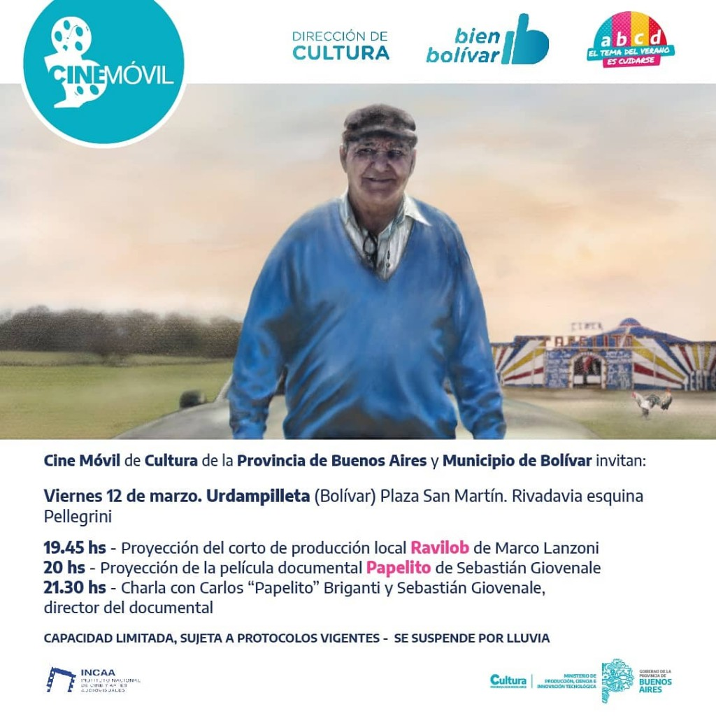 Buenos Aires Cultura: Llega el cine móvil a la localidad de Urdampilleta