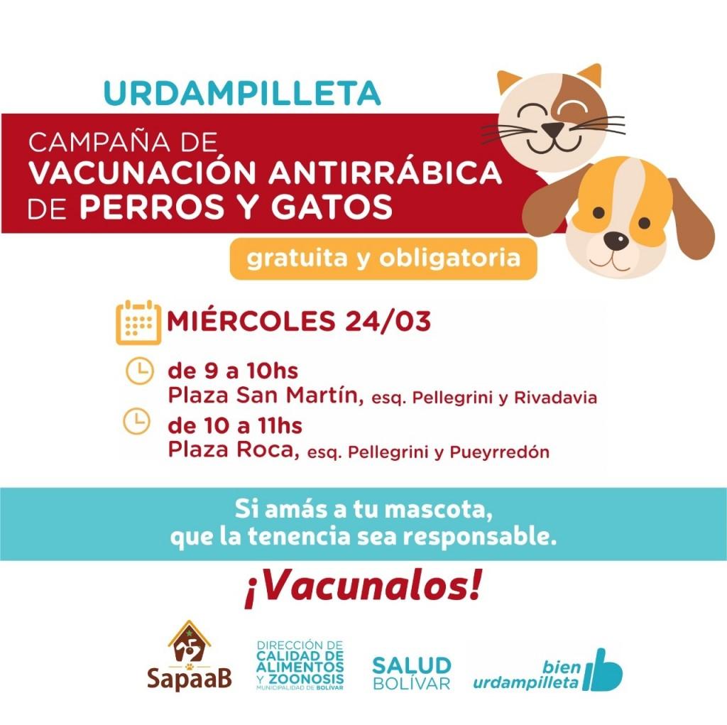 Zoonosis: Comienza la campaña de vacunación antirrábica gratuita y obligatoria