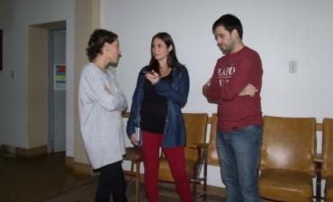 Enzo Moreira estuvo en Urdampilleta dando una clase de técnica vocal