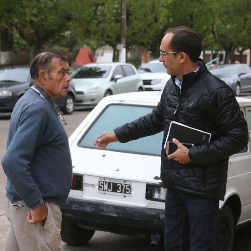 Pisano atendió consultas e inquietudes de los vecinos de Urdampilleta