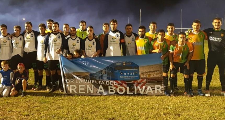 La campaña 'Por la Vuelta del Tren a Bolívar' llego a Urdampilleta
