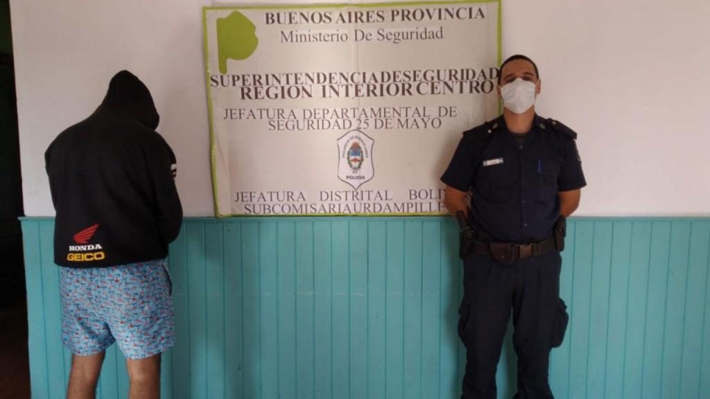 Información Oficial; Un vecino de Pirovano aprehendido por evadir control sanitario en la localidad