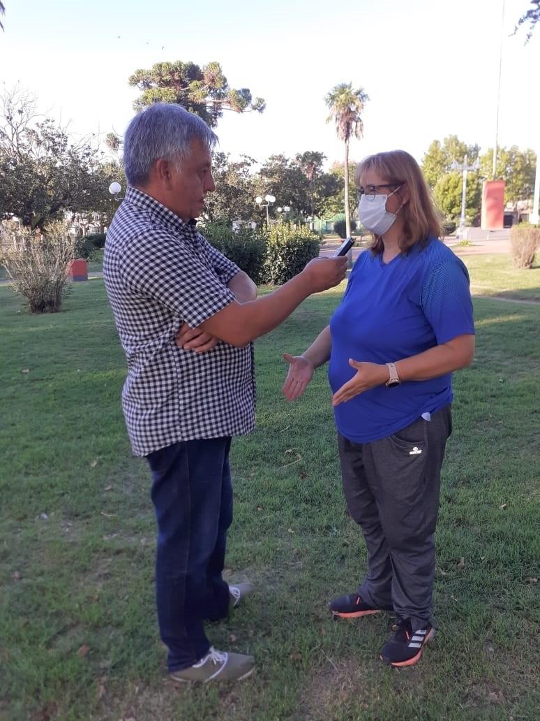 """María Luján Bouciguez: """"Esta semana respaldamos las acciones con la presentación de la cabina simuladora 'Pirotecnia Cero'"""""""