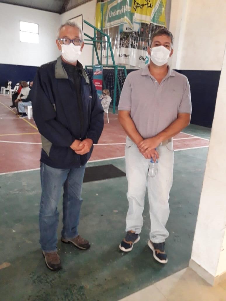 """Agustín Puleo Zubillaga: """"Estamos muy contentos, la jornada se organizó muy bien y se vacunaron con éxito aproximadamente 225 personas"""""""