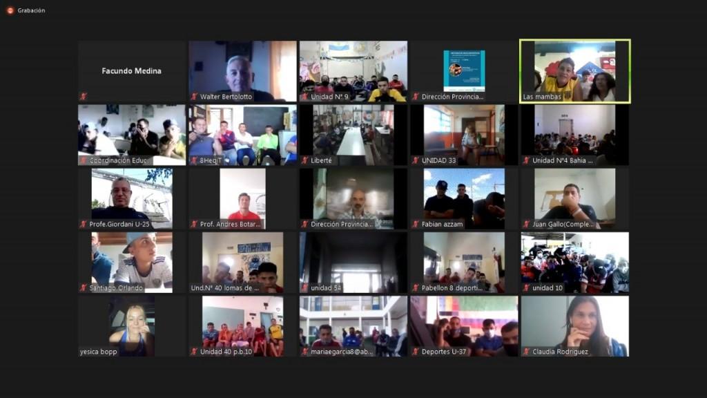 Internos de la unidad N°2 participaron de un  encuentro virtual con la boxeadora Yésica Bopp