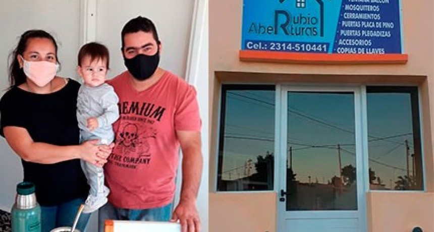 """""""Aberturas Rubio"""", una empresa familiar  abierta para Urdampilleta y la zona"""