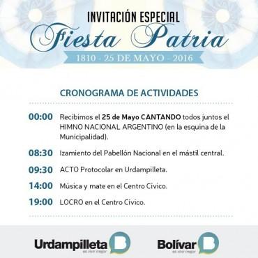 Ya se ultiman detalles para el acto del 25 de Mayo en Urdampilleta