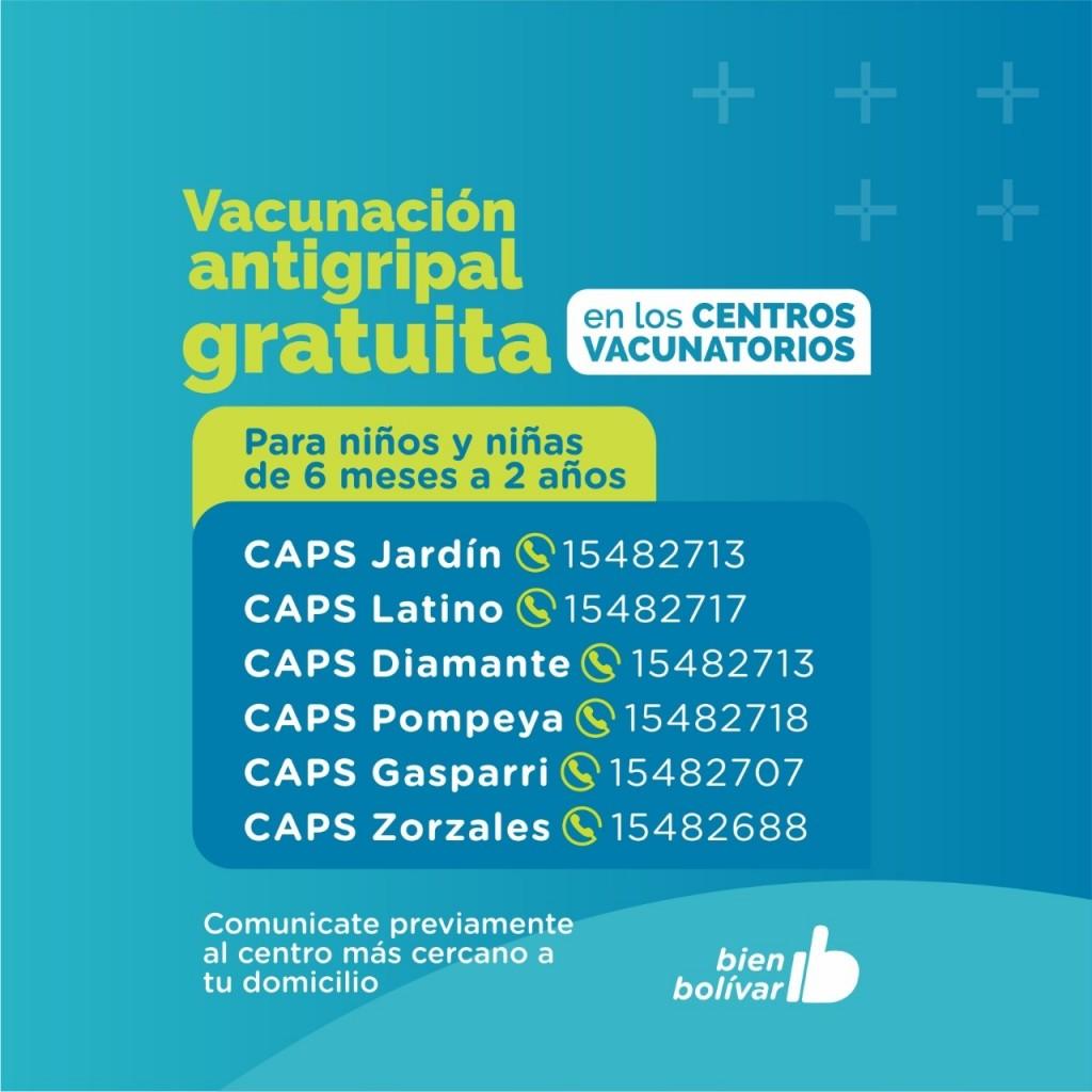 Prevenir es Salud: Comenzó la Campaña de Vacunación Antigripal para niños y niñas de 6 meses a 2 años