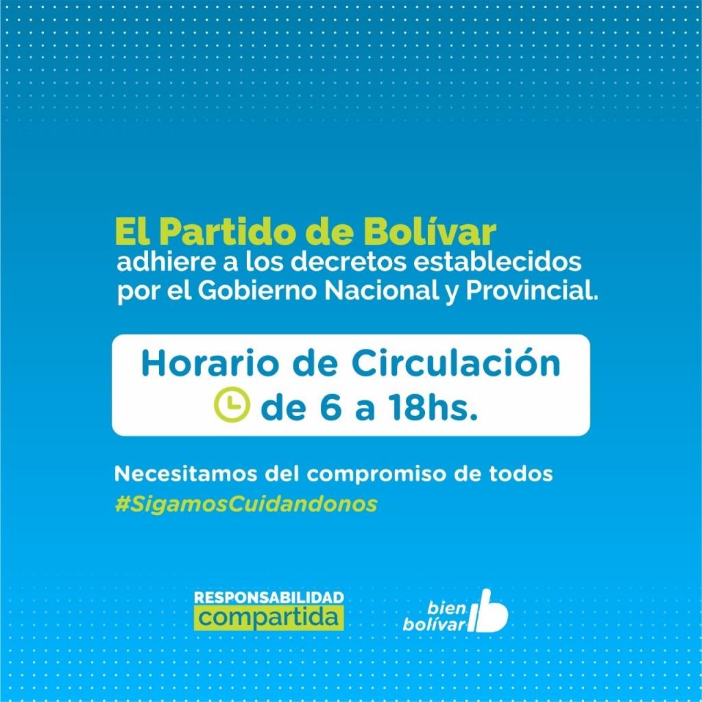Emergencia Sanitaria: el Partido de Bolívar adhiere a las nuevas medidas restrictivas establecidas por el gobierno nacional y provincial