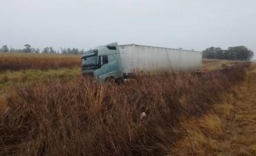 BONIFACIO: Un camión se despistó en Ruta Provincial 65
