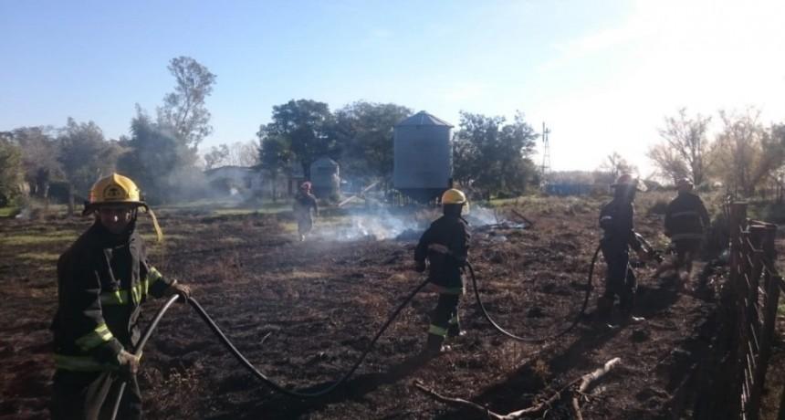 Se quemaron alrededor de dos hectáreas en inmediaciones a SAPA