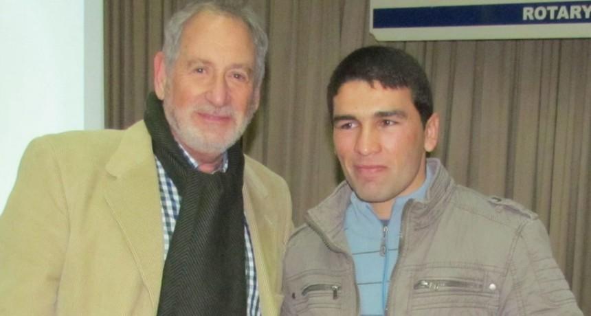 Federico 'Chori' Coronel recibió el premio Merito del Rotary en la categoría Deporte