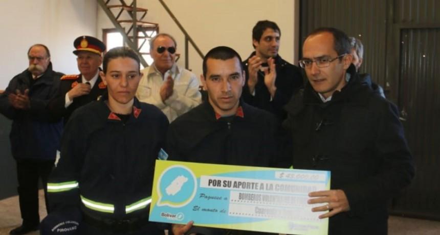 """Bomberos de Pirovano: """"Estamos tratando de mejorar día a día y por lo que nos dicen venimos bien"""""""