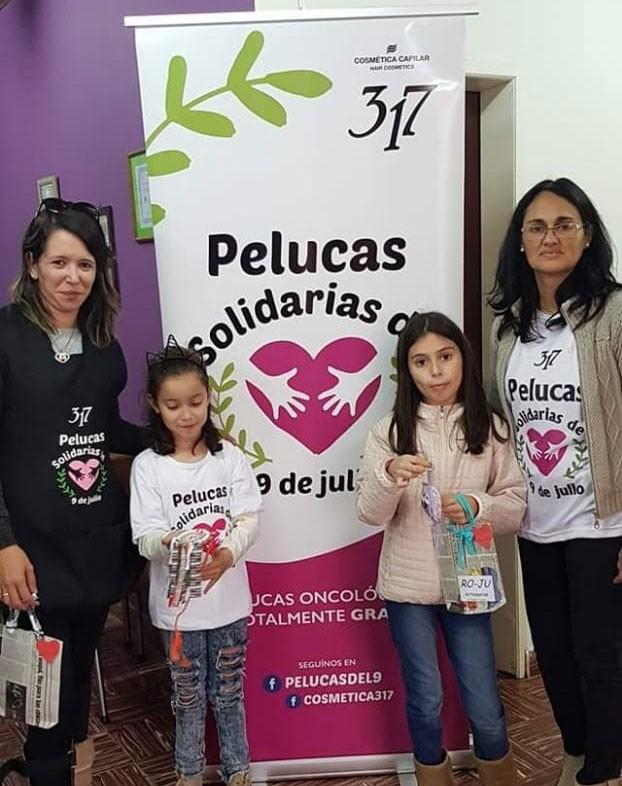 Urdampilleta se unió en la solidaridad y donó su pelo para Pelucas Solidarias 9 de Julio