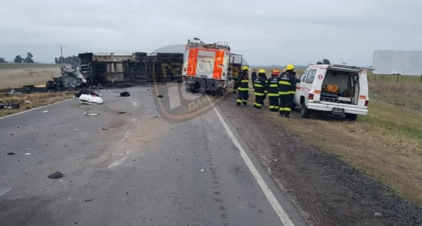 Guamini: Accidente fatal en Ruta 33; al menos un fallecido