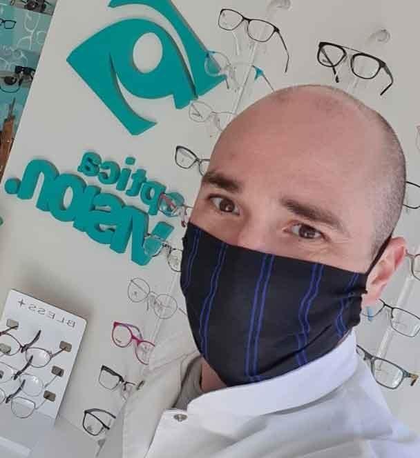 Matías Esteban incorporó nuevo equipamiento en Óptica Visión