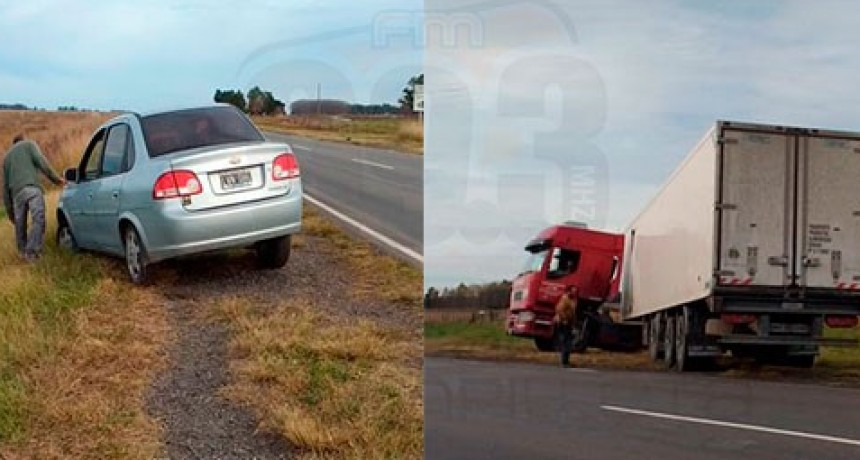Ruta 65: El chofer de un camión evitó lo que podría haber sido un grave accidente