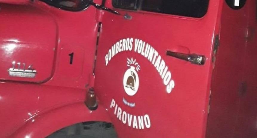 Accionar de Bomberos Voluntarios de Pirovano
