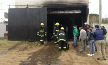 Se incendió un taller en Pirovano