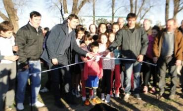 Este martes se inauguró el playón deportivo de Pirovano